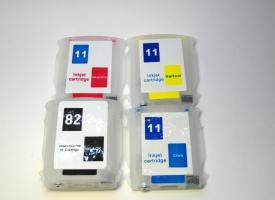Перезаправляемые картриджи (ПЗК) HP DesignJet 111 с авточипом