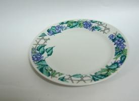 Тарелка 20 см белая с цветочным ободком для сублимации