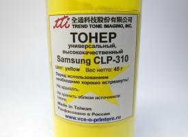 Тонер Yellow 45gr цветной Samsung Samsung CLP-300/ CLP-310 / CLP-365, CLX-2160/ CLX-3305 CLX-3180
