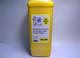 Эко Сольвентные чернила ( Eco solvent ) 1000мл Yellow Желтый